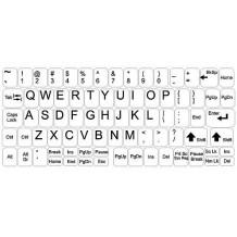 Autocolantes para o teclado - conjunto grande - fundo branco